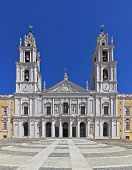 Mafra National Palace, Convent and Basilica in Portugal. Franciscan Religious Order. Baroque archite