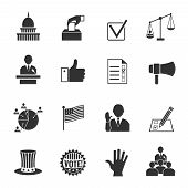 Elections icons set