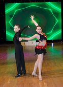 MOSCOW - MARCH 16: Unidentified children age 10-14 compete in latino dance on the Artistic Dance Eur