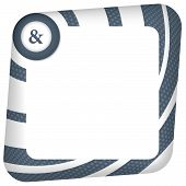 picture of ampersand  - abstract box for entering text with ampersand - JPG