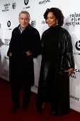 NEW YORK-APR 16: Robert De Niro and Grace Hightower at the world premiere of