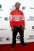 NEW YORK-APR 16: Rapper Nas' brother, Jungle, attends the world premiere of