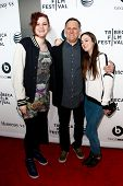 NEW YORK-APR 16: (L-R) Isabella Hatkoff, Craig Hatkoff and Juliana Hatkoff at the premiere of