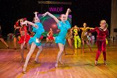 MOSCOW - MARCH 16: Unidentified children age 10-14 compete in artistic dance on the Artistic Dance E