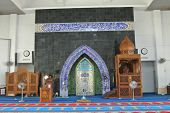 Mimbar and Mihrab of KIPSAS Mosque in Pahang