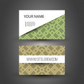Business or Gift Card Design with Squares Pattern