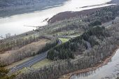 Interstate 84 Freeway Along Columbia River