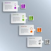 Info graphic steps design template