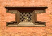 Traditional wooden Nepalese window called Ankhi jhyal