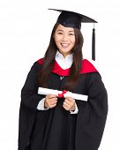 Beautiful young graduation woman