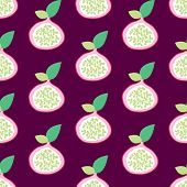 Seamless pomegranate exotic fruit illustration background pattern in vector