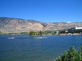 Water sports at the lake