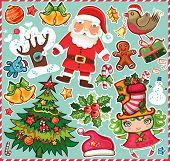 Conjunto de símbolos de Natal!