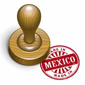 Made In Mexico Grunge Rubber Stamp