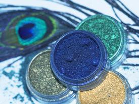stock photo of female peacock  - Professional powder eye - JPG