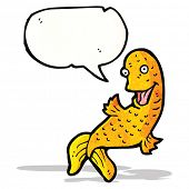 cartoon fish with speech bubble