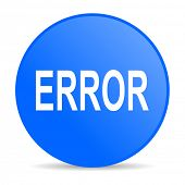 error internet blue icon