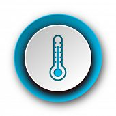 thermometer blue modern web icon on white background