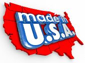 Made in USA American pride and honor in production and manufacturing of products or services