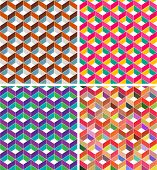 Abstract geometric seamless pattern with cubes
