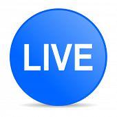 live internet blue icon
