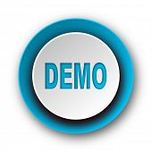 demo blue modern web icon on white background