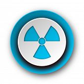 radiation blue modern web icon on white background