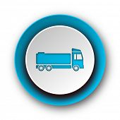 truck blue modern web icon on white background