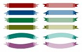 A Set of Beautiful Colorful Empty Banners