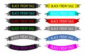 A Set of Colorful Black Friday Banners