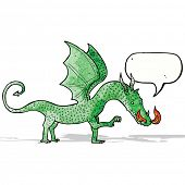 cartoon dragon with speech bubble