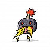 crazy cartoon bomb