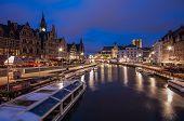 Graslei Ghent, Belgium