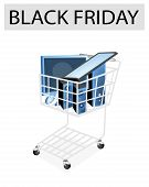 Desktop Computer in Black Friday Shopping Cart
