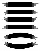 A Set Of Beautiful Black Empty Banners