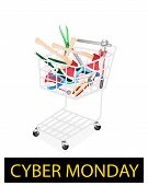Various Craft Tools in Cyber Monday Shopping Cart