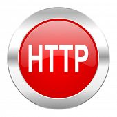 http red circle chrome web icon isolated