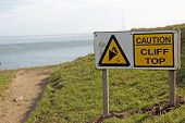 Cliff Edge warning sign