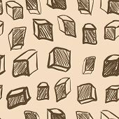 Seamless texture with vintage cubes