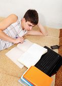Teenager Doing Homework