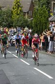 Greetland, England, Jul 06: The Peloton Riding Up Hullen Edge Lane During The Stage 2 Of Le Tour De