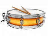 Sunburst Snare Drum With Drumsticks