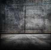 huge concrete room wall and floor.