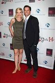 LOS ANGELES - OCT 6:  Adrienne Frantz, Scott Bailey at the Les Girls 14 at Avalon on October 6, 2014