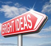 find bright idea in search of a solution great new brilliant ideas give a eureka moment be inspired and find inspiration for innovation road sign