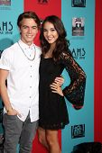 LOS ANGELES - OCT 5:  Jimmy Deshler, Haley Pullos at the