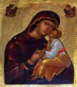 HERCEG NOVI, MONTENEGRO - JUNE, 7: Madonna with Child, Catholic Church Saint Jerome. Kotor Bay is also known as the Bay of Saints, on June 7, 2012, in Herceg Novi, Montenegro