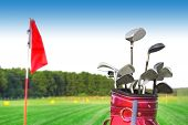 foto of golf bag  - Golf game - JPG