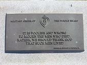Purple Heart Plaque at Port Hudson National Cemetery