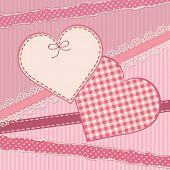 Greetings card with heart form